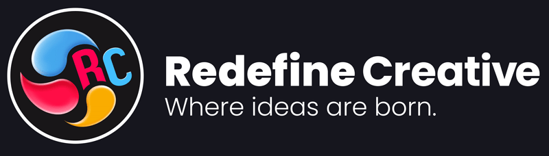 Redefine Creative Where ideas are born Logo